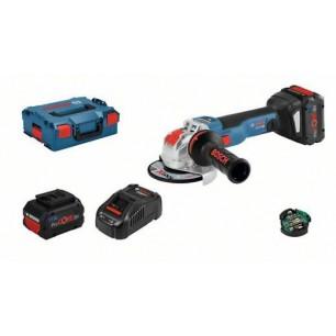 GWX 18V-10 SC -  Akumulatorowa szlifierka kątowa z systemem X-LOCK + walizka + 2 akumulatory