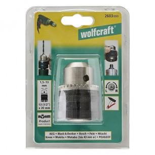 "uchwyt wiertarski wolfcraft na kluczyk 1/2"" 1,5-13mm"