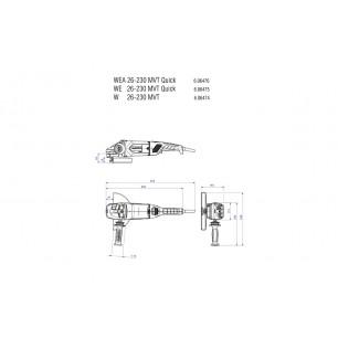WE 26-230 MVT Quick - Szlifierk kątowa